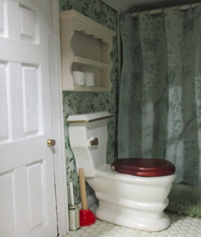 Here Are The Accessories In My Fairfield S Bathroom I Used Up All Soft Picks But Made Some Extra Plungers And Toilet Paper Rolls To Spread Around