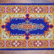 Blue Kirman Carpet