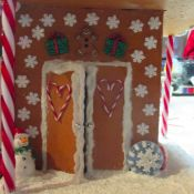 Faux Gingerbread House
