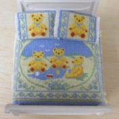 Teddy Bear Bedspread and Pillows