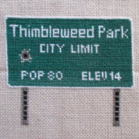 Thimbleweed Park Sign