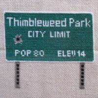Thimbleweed Park Sign