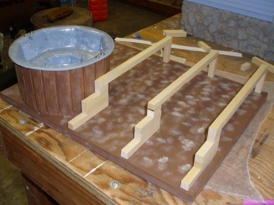 How to build a deck for a hot tub joy studio design for Hillside elevator kit