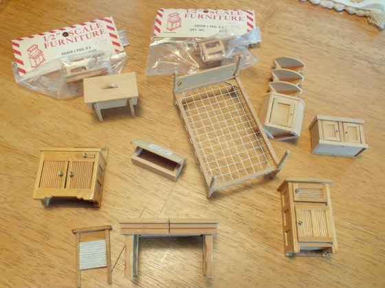 unfinished dollhouse furniture. A Few Weeks Ago I Won An EBay Auction For Lot Of Unfinished Half Scale Furniture From Estate Sale. Dollhouse E