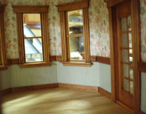 Bay window rooms continued the den of slack for Queen anne windows