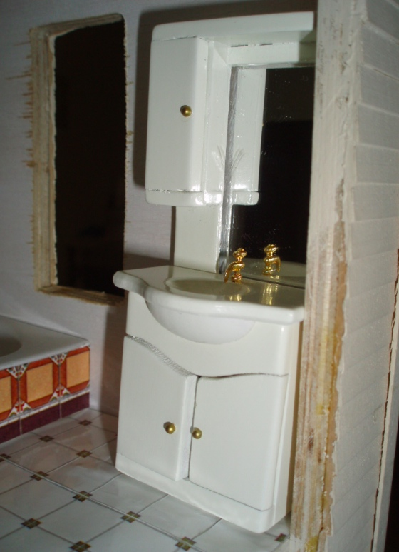 Great When I got it home I realized the cabinet would work perfectly in the corner of the Rowhouse us bathroom