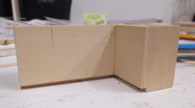 Then I Measured From The Edge Of The Cabinet To These Lines, And Made Lines  In The Same Spots On The Front Side.