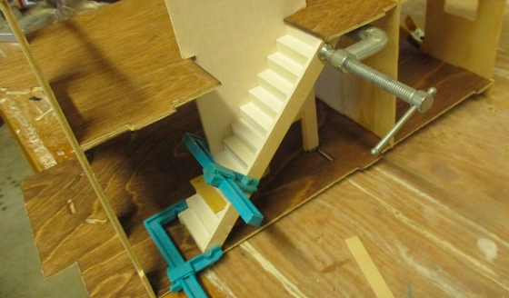 Possibly Because The Kit Pieces Are Slightly Warped, The Staircase Is Not  Quite At A 45 Degree Angle And A Little Crooked. At The Bottom, It  Overhangs A ...